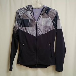 Nike running Dri-Fit full-zip hooded jacket